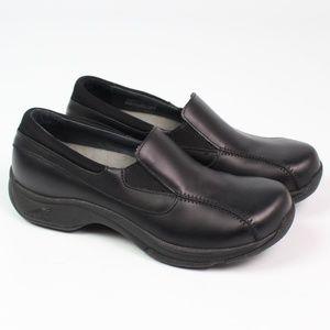 Dansko Kim black leather comfort slip on loafer